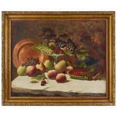 Still Life with Fruits and Copper Plate