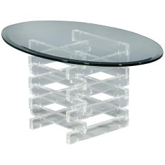 Vintage Acrylic Stacking Design Side Table