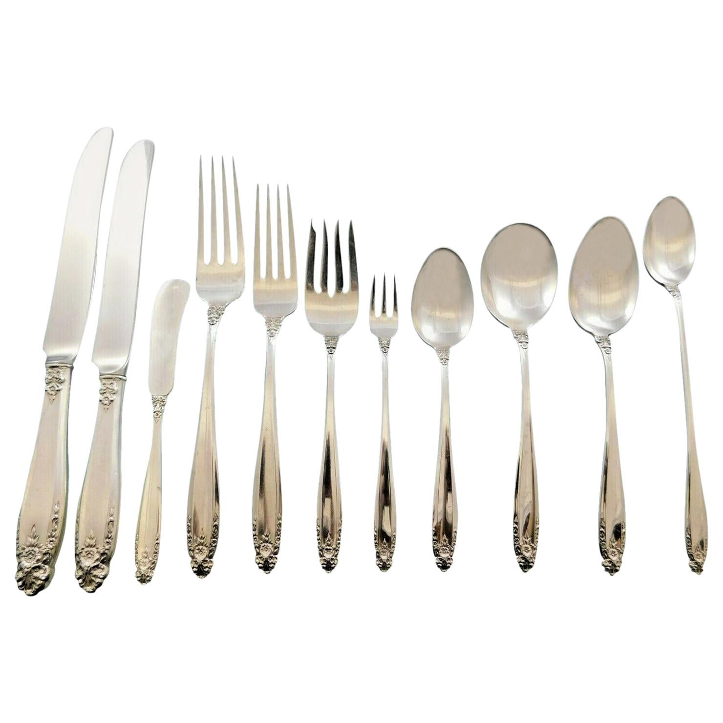Prelude by International Sterling Silver Flatware Set Dinner Service 145 Pieces
