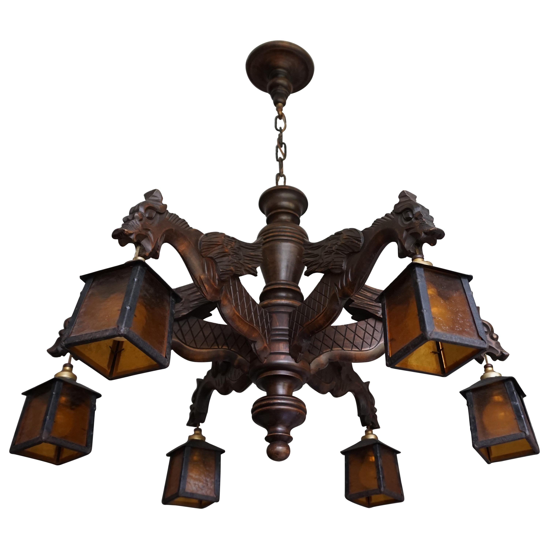 Medieval Modern 8 Light Octagon Chandelier | Round