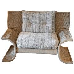 """Marzio Cecchi, Studio Most, """"Galles"""" Lounge Chair, Woven Cord, Italy, 1978"""