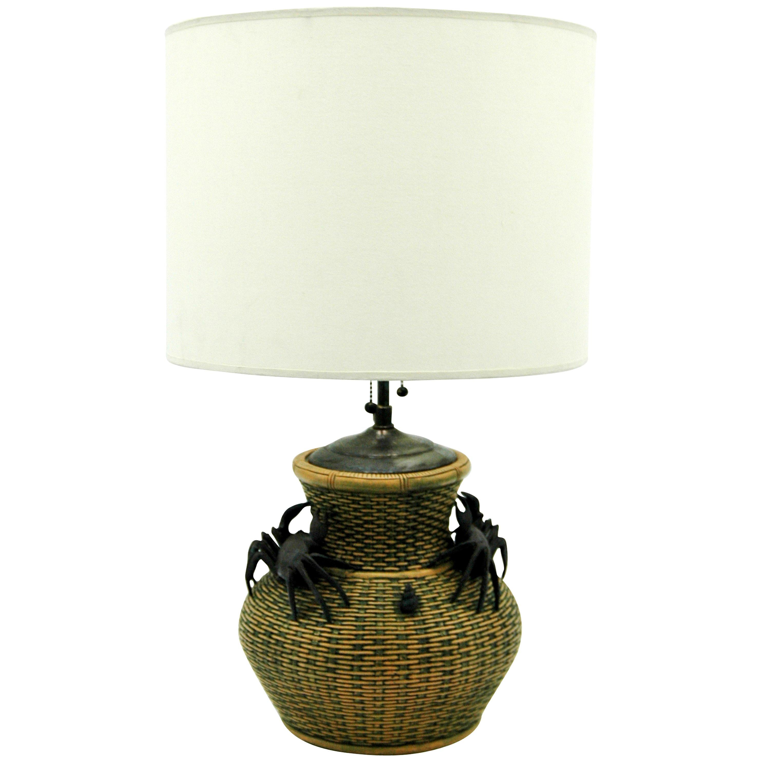 Chinese Clay Vase Table Lamp