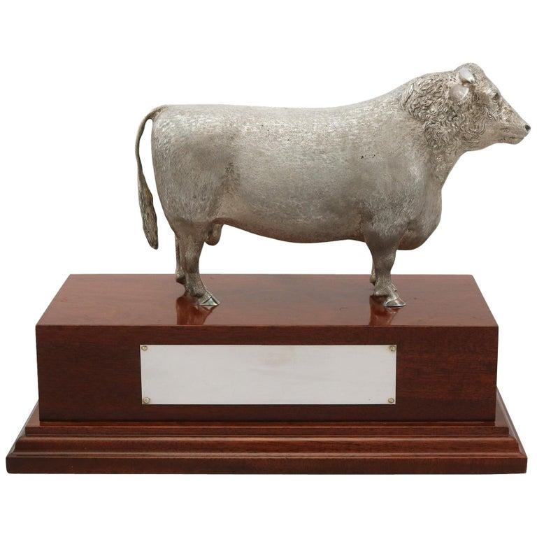 2004 Sterling Silver Presentation Bull For Sale