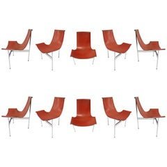 Ten Original T-Chairs by Katavolos, Kelly, Littell for Laverne, 1967