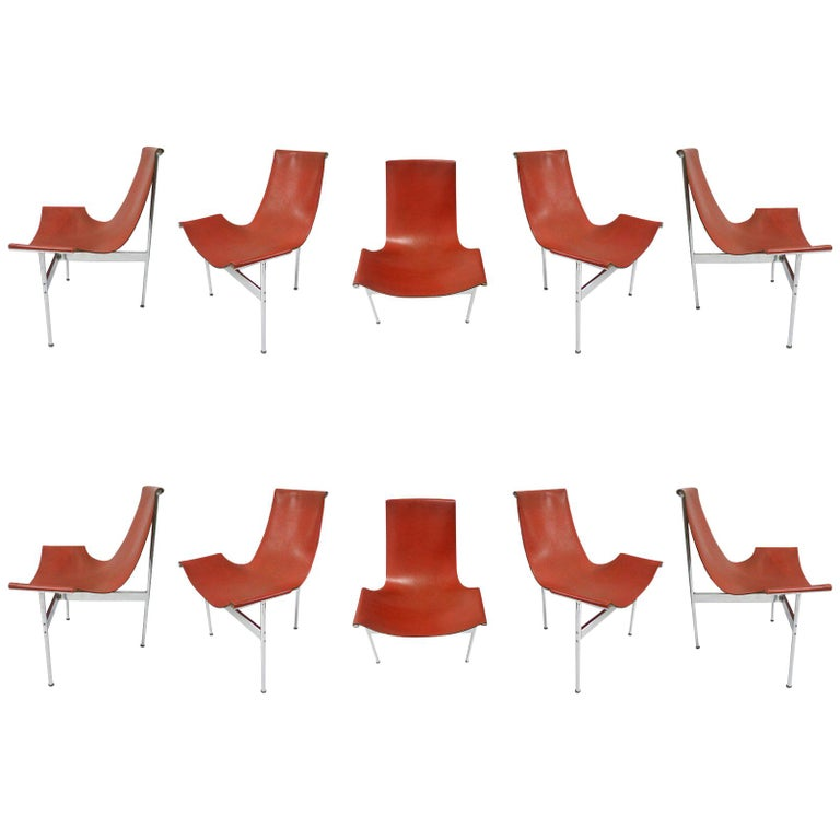 Ten Original T-Chairs by Katavolos, Kelly, Littell for Laverne, 1967 For Sale