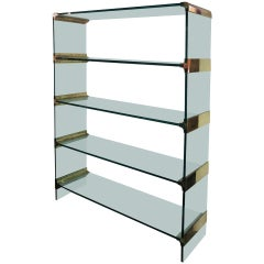 Freestanding Glass Shelving or Display Unit by Pace, USA, circa 1975