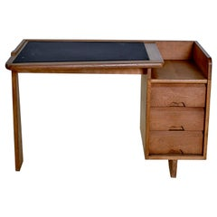 Guillerme et Chambron Solid Oak Desk France, 1960s