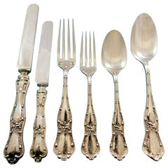 Gothic by Shiebler Sterling Silver Flatware Set for 12 Service 72 Pcs Dinner