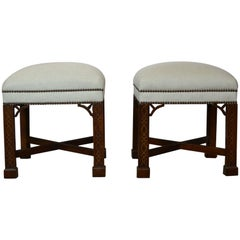 Chippendale Style Bench Set of Two