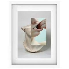 """Classic Sculpture Mouth Naro Pinosa, """"Untitled"""" Digital Collage, Spain, 2019"""
