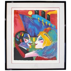 Contemporary Framed Serigraph Love on Boat Earl Linderman Signed 1988 190/200