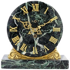 Edward F. Caldwell & Co. Gilt Bronze and Marble Clock