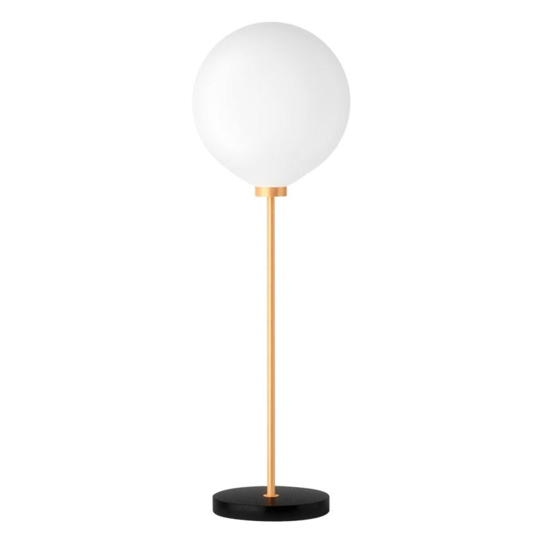 Onis, Contemporary Table Lamp, Brass and Marble 'Black' For Sale