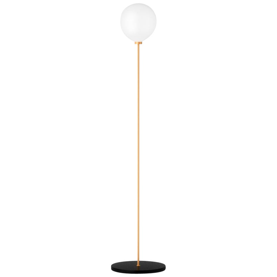 Onis, Contemporary Floor Lamp, Brass and Marble 'Black'