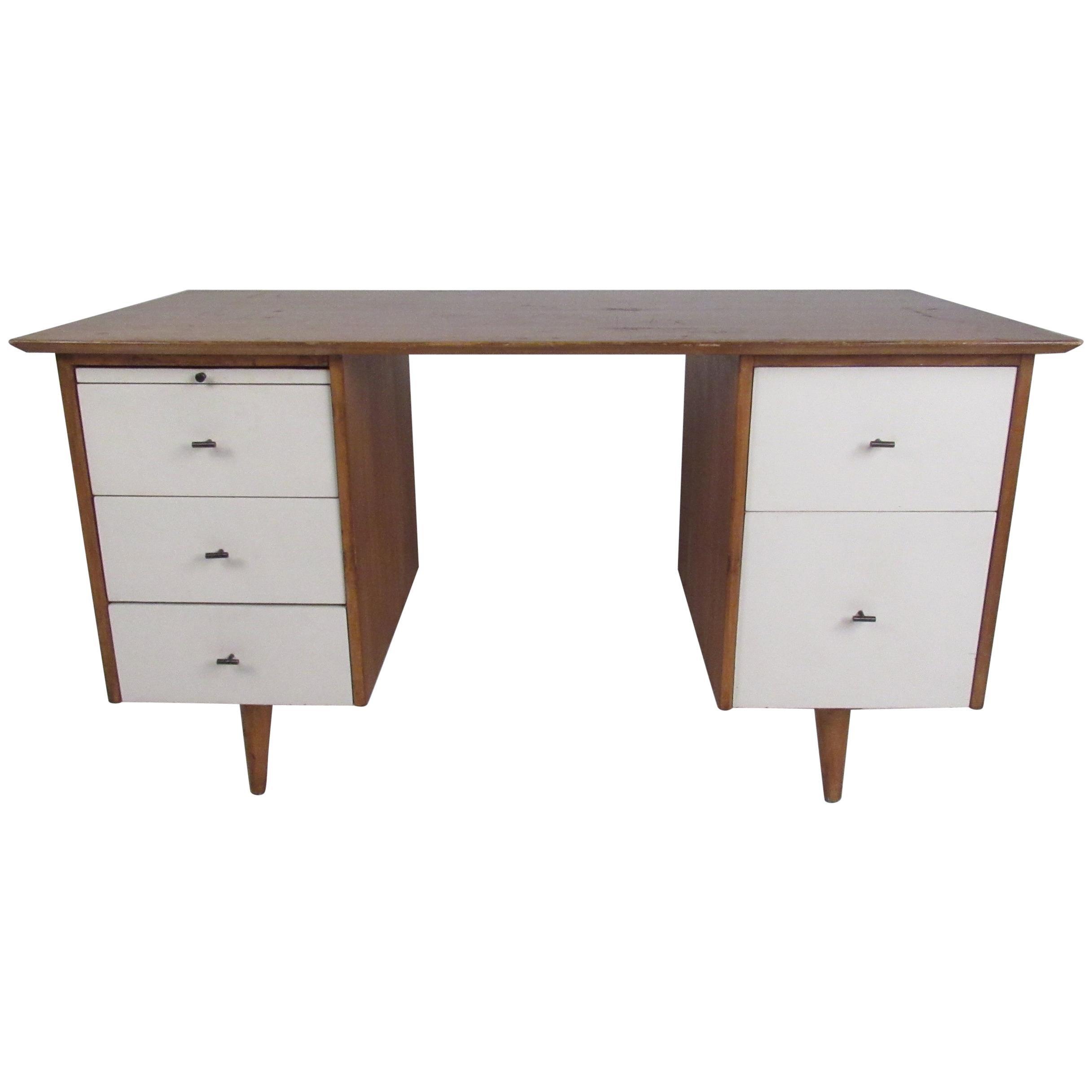 Midcentury Paul McCobb Double Pedestal Desk