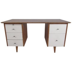 Midcentury Paul McCobb Double Pedestal Desk