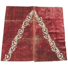 19th Century Ottoman Empire Persian Silver Metallic Threads Embroidered Textile