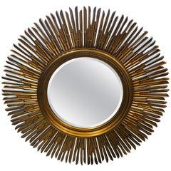 Sunburst Gold Finished Mirror