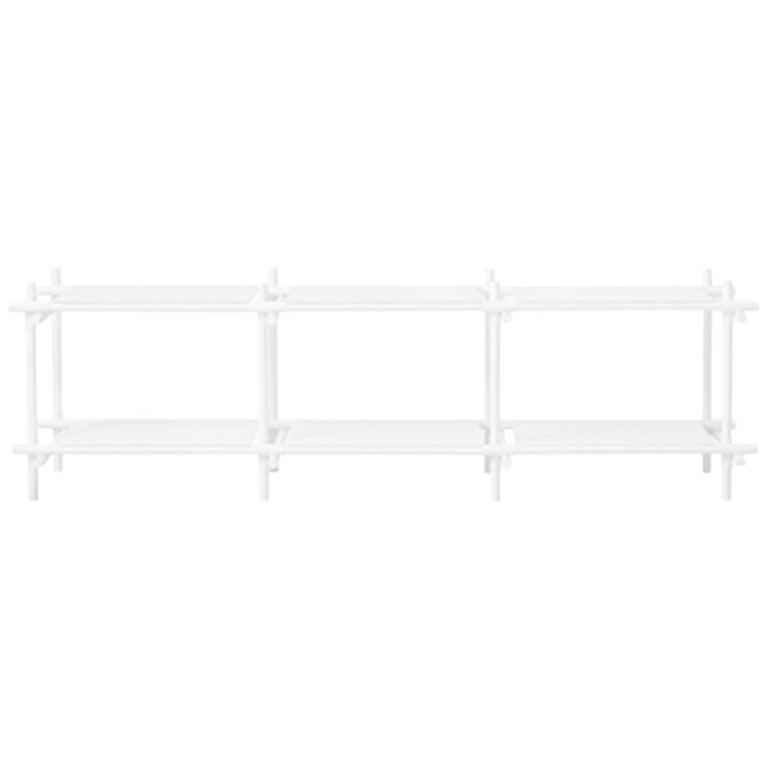 Stick System, White Shelves with White Poles, 3x2 For Sale