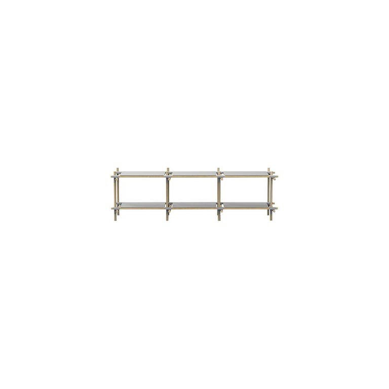 Stick System, Light Grey Shelves with Grey Poles, 3x2 For Sale