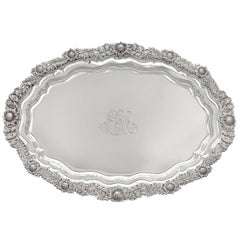 Tiffany & Co. Chrysanthemum Silver Serving Tray