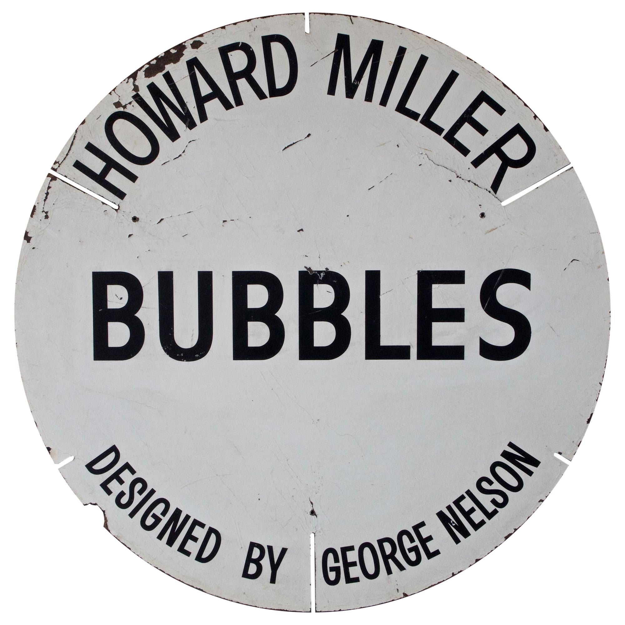 1960s Howard Miller George Nelson Bubble Sign Advertising Display Store UFO Lamp