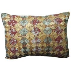 "Vintage Embroidery Indian ""Phulkari"" Decorative Bolster Pillow"