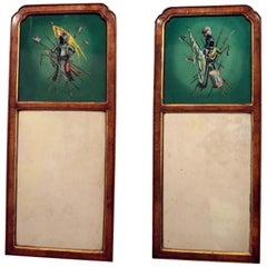 Pair of Unusual Trumeau Mirrors