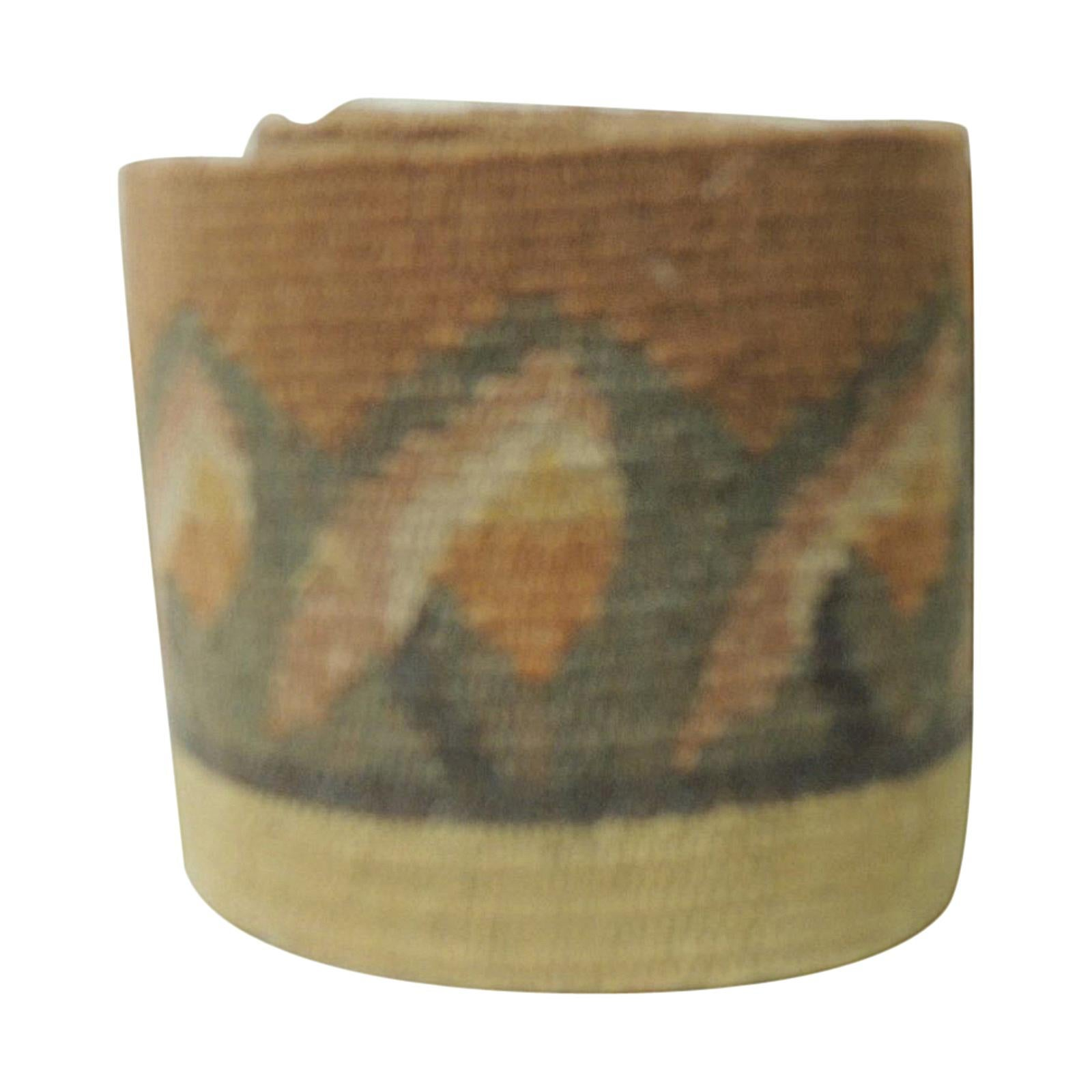 Vintage Yellow and Green Tapestry Woven Decorative Trim