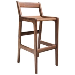 'Fenelon' Bar or Counter Stool in Walnut
