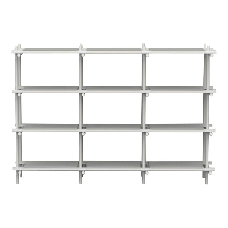 Stick System, White Shelves with White Poles, 3x4 For Sale