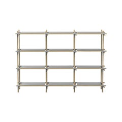 Stick System, Light Ash Shelves with Grey Poles, 3x4