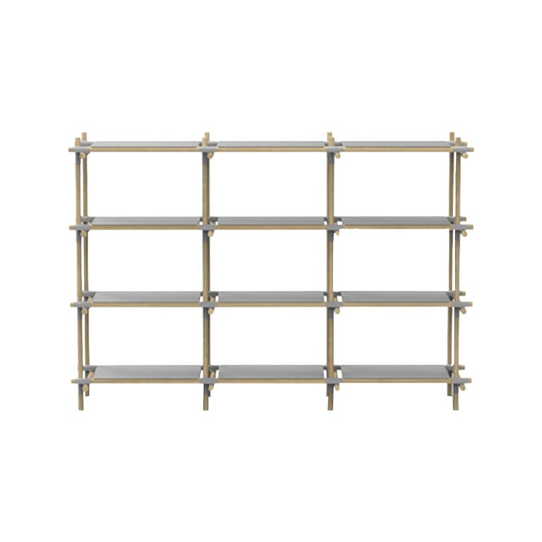 Stick System, Light Ash Shelves with Grey Poles, 3x4 For Sale