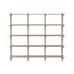 Stick System, Light Ash Shelves with Grey Poles, 3x5