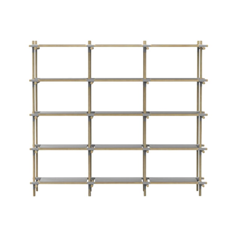 Stick System, Light Ash Shelves with Grey Poles, 3x5 For Sale
