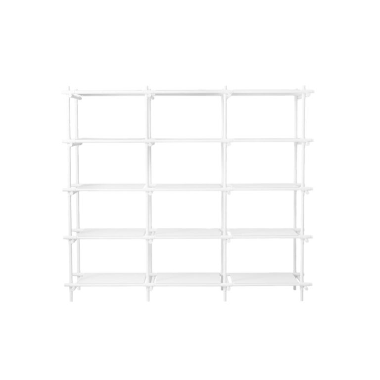 Stick System, White Shelves with White Poles, 3x5 For Sale
