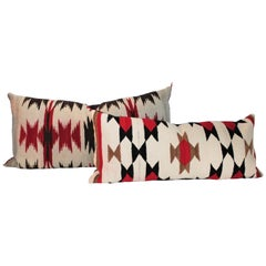 Collection of Navajo Indian Weaving Pillows, Two