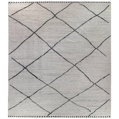 Grey Moroccan Diamonds Design Rug
