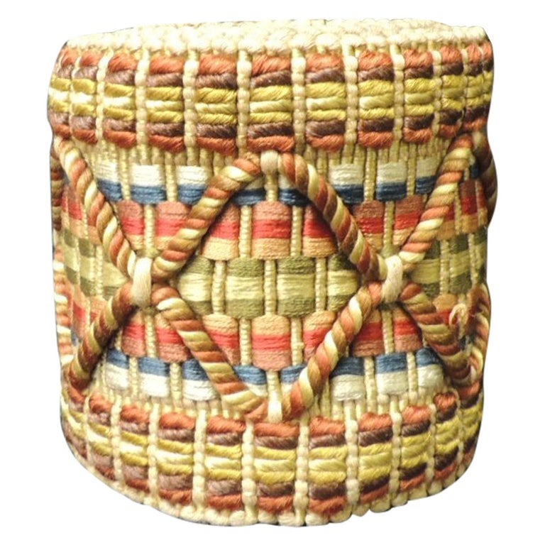 Vintage Colorful Woven Turkish Trim For Sale