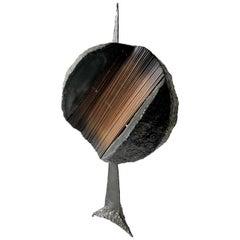 1960s Brutalist Metal Copper Rod Handmade Sculpture