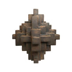 """Composition 11.1"" Table Sculpture in Bronze Finish by Dan Schneiger"