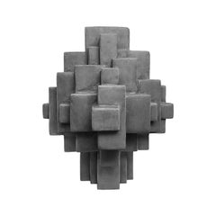 """Composition 11.3"" Table Sculpture in Dark Grey Finish by Dan Schneiger"