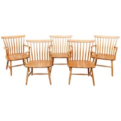 Five 1950s Swedish Bentwood Beech Armchairs by Bengt Akerblom for Akerblom