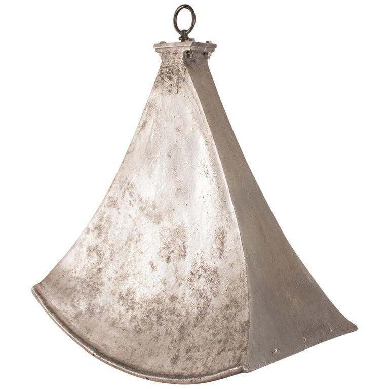 Vintage Aluminum Industrial Pendant Light For Sale