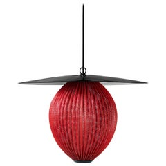 Satellite Pendant, Large, Red