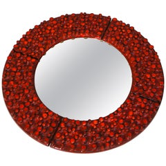 Large Ceramic Mirror by Oswald Tieberghien