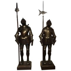 Magnificent Pair of 19th Century Suit of Armour in the 16th Century Style