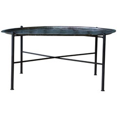 Etched Steel Indian Tray Table