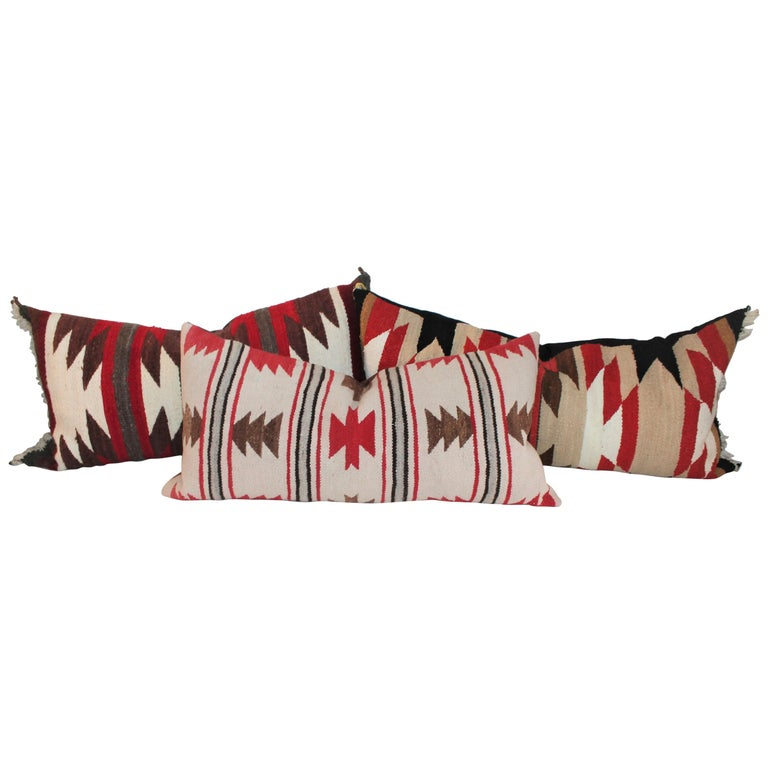 Navajo Indian Saddle Blanket Pillows For Sale