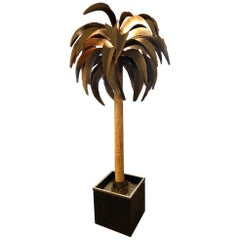 Maison Jansen, Tall Palm Tree Floor Lamp, Paris, circa 1960s